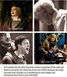 Harry and Draco, two sides to the same coin.