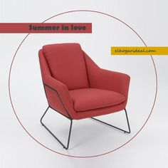 Me ha seducido su diseño y lo he incorporado a la colección de El Hogar Ideal. Sillón con estructura de hierro y tapicería en rojo. http://elhogarideal.com/es/muebles/989-sillon-vanguardia-rojo.html#.VcPRQPntmko