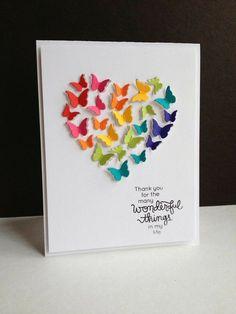 40 New Ideas For Birthday Card Creative Punch Art Scrapbook Expo, Scrapbook Cards, Scrapbook Birthday Cards, Love Cards, Diy Cards, Tarjetas Diy, Karten Diy, Handmade Birthday Cards, Butterfly Cards Handmade