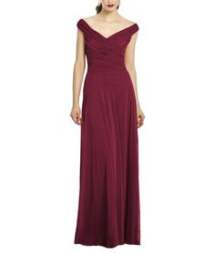 DescriptionAfter Six Style 6667Full length bridesmaid dressOff the shoulder VnecklineRuched bodiceModified circle skirtLux chiffon