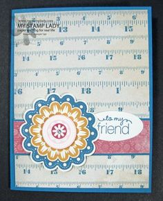 Quint-Essential Flower with Fan Fair Paper. Products that coordinate from Stampin' UP!. www.mystamplady.com