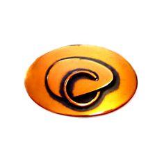 Vintage Copper Brooch, Modernist Pin