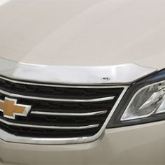 Traverse Molded Hood Protector, Chrome: Deflect road debris and insects while helping to shield the hood of your Traverse from stone damage with this customdesigned Molded Hood Protector in Chrome Provides a precise fit by following the contour of your hood 2015 Traverse Molded Hood Protector Chrome Best New Cars, Chevrolet Traverse, Mid Size Suv, Honda Logo, Car Wash, Custom Design, Chrome, Vehicles, Contour