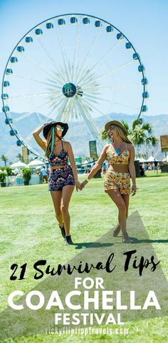 21 Tips to Survive Your First Time at Coachella Coachella Survival Tips Cochella Festival, Festival Outfits, Festival Fashion, Festival Style, Coachella Looks, Coachella 2018, Edm Festival, Festival Camping, Festivals Around The World