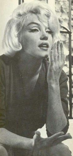 Marilyn Monroe at home in Brentwood in Southern California 1962 just months before her death