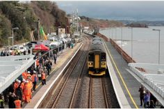 Trains back up and running at Dawlish, Devon, after storm damage