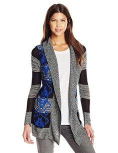 3055a9d8c0 Derek Coronary heart Junior s Open up Boyfriend Printed Cardigan Sweater -  Fashion Trends