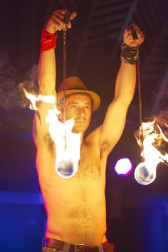 #Fireshows. #EnergyEntertainments performing Energy In Motion a solo show for RAW Artists held at the #Beach Hotel #ByronBay #Australia #Fire