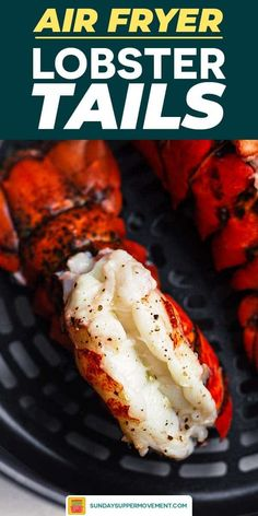 Beautifully seasoned & perfectly cooked steak with buttery lobster tails is SO easy to make in the air fryer! You will love this easy surf and turf recipe. Air Fryer Fish Recipes, Air Fry Recipes, Air Fryer Dinner Recipes, Cooking Recipes, Grill Recipes, Cooking Frozen Lobster Tails, Recipe For Cooking Lobster Tails, Butter Sauce, Garlic Butter