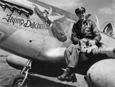 """Neil Van Wyk of 336 sits on the wing of his """"""""Flying Dutchman"""" with his dog Colonel. Formerly Jim Goodson's VF-B, Van Wyk's kite was coded VF-X. It was a with a serial of Old Planes, F-14 Tomcat, Aircraft Painting, P51 Mustang, Fighter Pilot, Nose Art, Aviation Art, Military History, Wwii"""