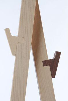 KELO & SUKSET, designed by Harri Homi and Elina Jarvinen. Cool little detail for a hook. Woodworking Joints, Woodworking Plans, Woodworking Projects, Diy Furniture, Furniture Design, Furniture Cleaning, Building Furniture, Furniture Outlet, Plywood Furniture