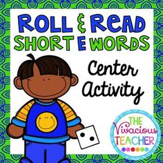 This Roll and Read Short E Words Center Activity contains three game boards. The first game board is for practicing Short E CVC words. The second game board is for practicing Short E nonsense words. The third game board is a mixture of Short E words and nonsense words. Grades K-2 ~ The Vivacious Teacher