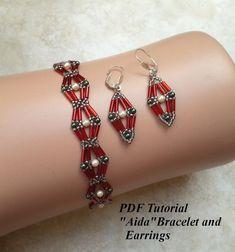 Beaded Bracelets Tutorial, Diy Bracelets Easy, Beaded Bracelet Patterns, Seed Bead Bracelets, Beaded Earrings, Etsy Earrings, Bead Patterns, Beads Tutorial, Bead Jewelry