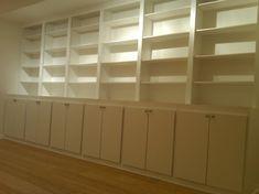 doors on lower bookcase shelves. . .