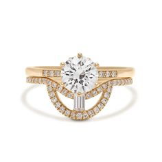 Vintage Art Deco Solitaire Moissanite Engagement Ring  #14kgoldjewelry #14kweddingring #solitairering #engagementring #weddingring #weddingset #hkjweddingring #emeraldband #anniversaryring