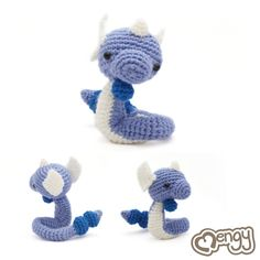 Dragonair Pokemon Amigurumi by *mengymenagerie on deviantART