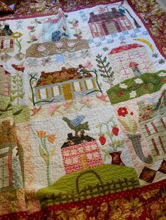 Supergoof Quilts: Home Sweet Home Quilt van Frauke