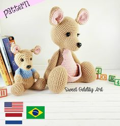 Crochet Zebra, Owl Crochet Patterns, Crochet Elephant, Amigurumi Patterns, Crochet Ideas, Crochet Disney, Stuffed Animal Patterns, Crochet Animals, Yarn Colors