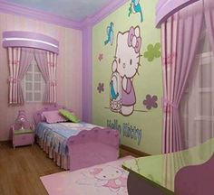 Merveilleux Hello Kitty Bedroom Little Girl Bedrooms, Decoration Design, Hello Kitty  Room Decor, Hello