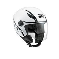 Casco moto jet bianco AGV Blade E2205 Mono – White