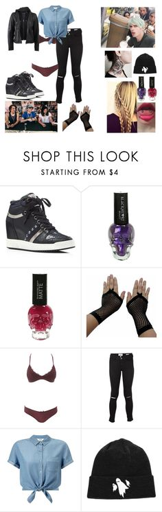 """""""Seeing for the first time Waterparks"""" by bubble-loves-you ❤ liked on Polyvore featuring Ash, Charlotte Russe, Frame Denim, Miss Selfridge and La Marque"""