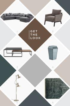 Get the look: peças para uma decoração contemporânea em cinza e preto