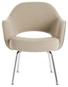 Saarinen Executive Armchair with Metal Legs in Fabric modern-task-chairs