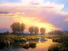 John Cogan is a landscape and wildlife artist. He was born in Texas in did not formally study art in any fine arts institution, infa. Oil Painting Pictures, Pictures To Paint, Art Pictures, Winter Painting, Sky Painting, Landscape Art, Landscape Paintings, Gustave Dore, West Art