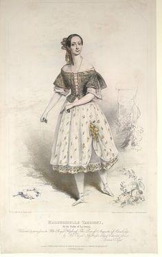 ballet art: vintage ballerina graphic, Marie Taglioni