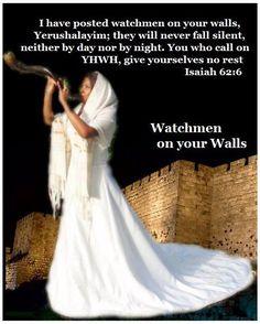Isaiah 62:6) I have set watchmen on your walls, O Jerusalem;
