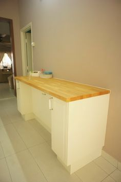 Mommy Confessionals: Let Me Take You To My New Kitchen :) Breakfast Bar  Against The Wall Photo