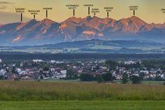 Piękny widok na Tatry z Nowego Targu - zobacz opisaną panoramę