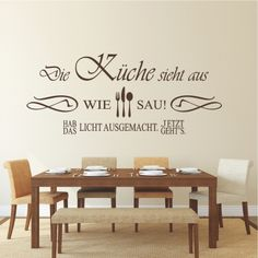 wandsticker, wandtattoos, wandaufkleber, stammtisch mit eigenem ... - Wandtattoos Küche Esszimmer