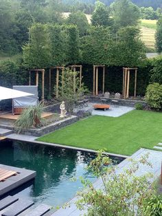 Ausführung You are in the right place about Garden Types backyards Here we offer you the most beautiful pictures about the Garden Types you are looking for. When you examine the Ausführung part of the Backyard Plants, Backyard Garden Design, Terrace Garden, Garden Pool, Pool Backyard, Backyard Ideas, Garden Types, Modern Landscaping, Landscaping Plants