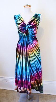 Tie Dye Dress Maxi Dress Hippie Dress Long Dress by 2dye4designs, $59.00