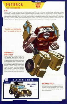 Transformers Universe - Gallery: G1 Outback