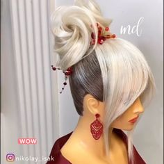 Love how this hairstyle turned out 😍 By: Vintage Hairstyles For Long Hair, Hairstyles For Medium Length Hair Easy, Medium Hair Styles, Braided Hairstyles, Wedding Hairstyles, Curly Hair Styles, Messy Hairstyle, Latest Hairstyles, Competition Hair