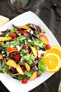 The Most Delicious Nectarine Salad + a Simple Yummy Vinaigrette. I made this many times throughout the summer; it was an instant favorite.