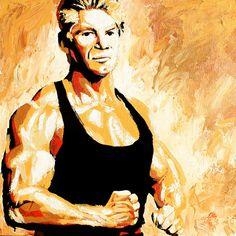 "Vince McMahon l Acrylic on 24"" x 24"" wood"