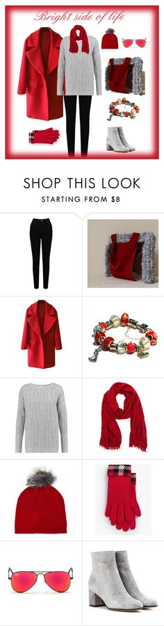 """Bright side of life"" by mariliart on Polyvore featuring EAST, Vince, Neiman Marcus, Talbots, Ray-Ban and Gianvito Rossi"