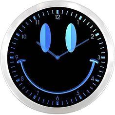 Smiley LED Wall Clock | Wall Clocks Blog