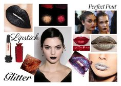 """""""glitter lipstick"""" by emily-dickson-1 ❤ liked on Polyvore featuring beauty, Pat McGrath, Anna Sui and Kat Von D"""