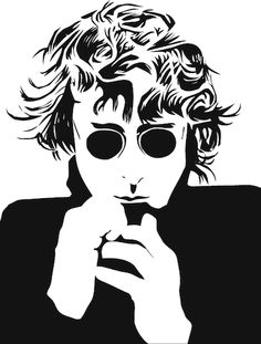 Dedicated to Travis -- Travis took a picture of a drawing of John Lennon on his phone and asked me to vector it. Les Beatles, Beatles Art, John Lennon Yoko Ono, Rock Argentino, Billy Preston, Norman Rockwell, The Fab Four, Shows, Great Bands