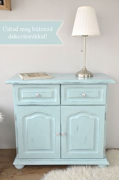 Shabby chic cupboard-how paint your cupboard with Pentart Dekor Paint Soft-hungarian site! Diy Projects To Try, Home Projects, Retro Furniture Makeover, Chalk Paint Furniture, Diy And Crafts, Shabby Chic, Cabinet, Storage, Inspiration