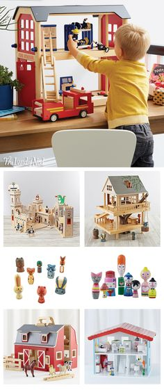 Our exclusively designed dollhouses and imaginary playsets will never stop working. That's because these kids' toys require no batteries and run on pure imagination. So the playtime can go on and on. And our variety for boys and girls means you'll have no problem finding just the right one. From traditional dollhouses with a modern update to epic castles with tons of figures and accessories, we have more than enough of these classic toys to keep kids pretend playing all day.
