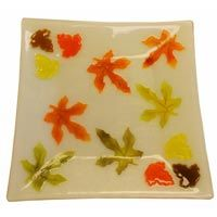 Fall Leaves Powder Wafer Dish how to make wafers
