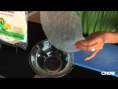 How to Use Rice Paper in Spring Rolls CHOW Tip - YouTube