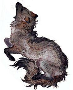 Crab eating fox / cachorro do mato . Fantasy Creatures, Mythical Creatures, Animal Drawings, Art Drawings, Fox Art, Creature Design, Art Tutorials, Cute Art, Art Inspo