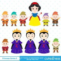 Princess Digital Clipart Princess Clipart Snow White by Cutesiness