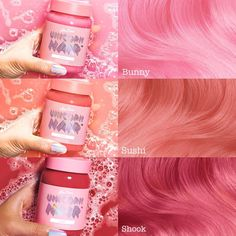 Lime Crime - Unicorn Hair Tints (Except i dont like Lime Crime) Aesthetic Hair, Dye My Hair, Dyed Hair Pink, Pastel Pink Hair, Hair Dye Colors, Coloured Hair, Rainbow Hair, Crazy Hair, Pretty Hairstyles
